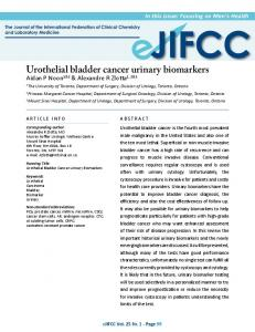 Urothelial bladder cancer urinary biomarkers