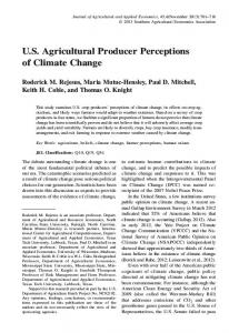 US Agricultural Producer Perceptions of Climate ... - Semantic Scholar