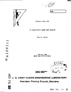 US ARMY HUMAN ENGINEERING LABORATORY ...