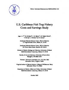 US Caribbean Fish Trap Fishery Costs and ... - Aquatic Commons