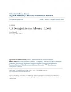 US Drought Monitor, February 10, 2015
