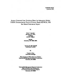US EPA Arsenic Removal from Drinking Water by Adsorptive Media ...