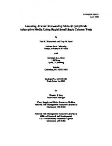 US EPA Assessing Arsenic Removal by Metal (Hydr) - CiteSeerX