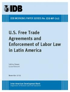 US Free Trade Agreements and Enforcement of ... - IDB - Publications