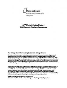 US History - AP Central - The College Board