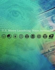 U.S. Money Laundering Threat Assessment (MLTA)