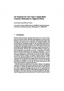 US Proposals for Free Trade in Digital Media Products - CiteSeerX