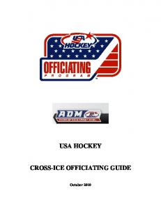 USA HOCKEY CROSS-ICE OFFICIATING GUIDE