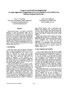 Usage-Centered Software Engineering: An Agile ... - Semantic Scholar