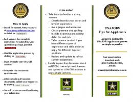 USAJOBS Tips for Applicants - Army Civilian Service
