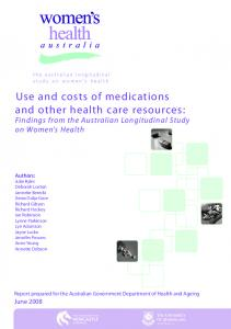Use and costs of medications and other health care resources: