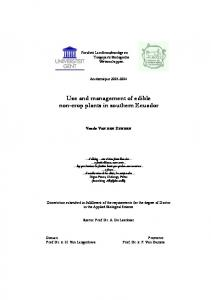 Use and management of edible - Laboratory of Tropical and ...