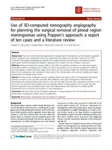Use of 3D-computed tomography angiography for