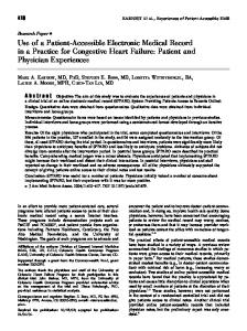 Use of a Patient-Accessible Electronic Medical ... - Semantic Scholar