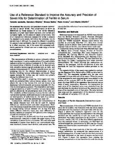 Use of a Reference Standard to Improve the ... - Clinical Chemistry