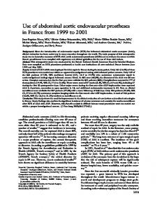 Use of abdominal aortic endovascular prostheses in France from 1999 ...