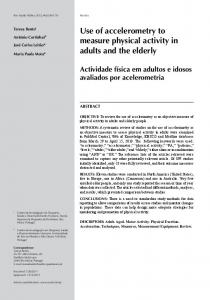Use of accelerometry to measure physical activity ... - Semantic Scholar