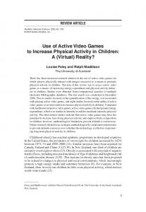 Use of Active Video Games to Increase Physical ... - Semantic Scholar