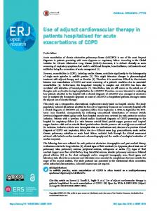 Use of adjunct cardiovascular therapy in patients hospitalised for