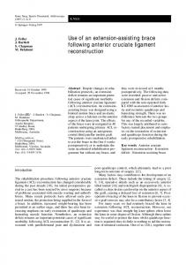 Use of an extension-assisting brace following anterior ... - Springer Link