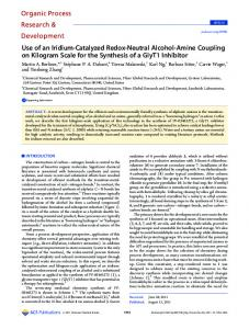 Use of an Iridium-Catalyzed Redox-Neutral ... - ACS Publications