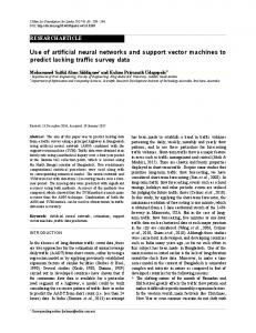 Use of artificial neural networks and support vector machines to