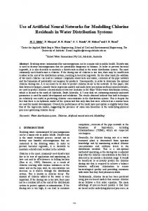 Use of Artificial Neural Networks for Modelling Chlorine ... - Core