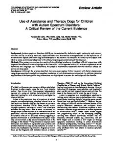 Use of Assistance and Therapy Dogs for Children with Autism ...