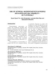 use of atypical antipsychotics in people with intellectual disability - BJDD