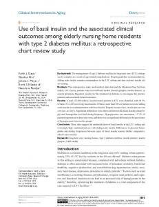 Use of basal insulin and the associated clinical outcomes among ...
