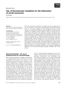 Use of biomolecular templates for the fabrication ... - Wiley Online Library