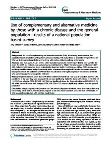 Use of complementary and alternative medicine by