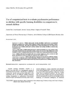 Use of computerized tests to evaluate psychomotor