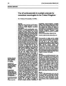 Use of corticosteroids in multiple sclerosis by consultant ... - Europe PMC