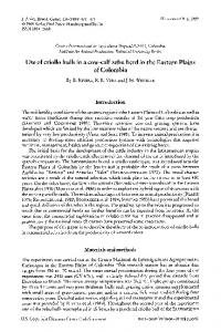 Use of criollo bulls in a cowcalf zebu herd in the ... - Wiley Online Library