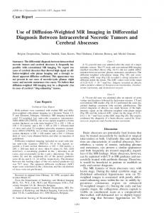 Use of Diffusion-Weighted MR Imaging in Differential Diagnosis ...