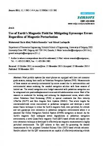 Use of Earth's Magnetic Field for Mitigating Gyroscope Errors ... - MDPI