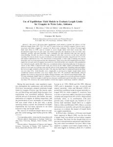 Use of Equilibrium Yield Models to Evaluate ... - Wiley Online Library