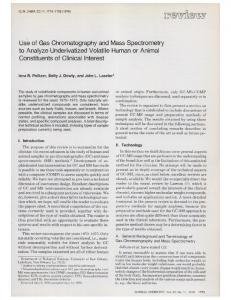 Use of Gas Chromatographyand Mass ... - Clinical Chemistry