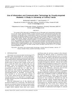 Use of Information and Communication Technology by ... - CiteSeerX