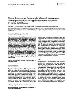 Use of Intravenous Immunoglobulin and Intravenous ...