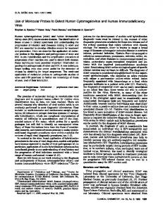 Use of Molecular Probes to Detect Human ... - Clinical Chemistry