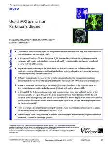 Use of MRI to monitor Parkinson's disease - Future Medicine