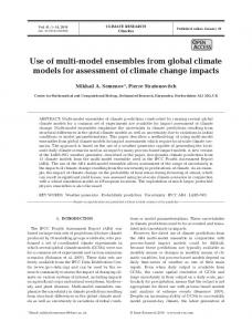 Use of multi-model ensembles from global climate models for ...