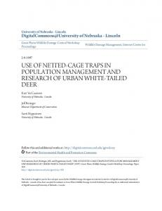 use of netted-cage traps in population ... - Semantic Scholar