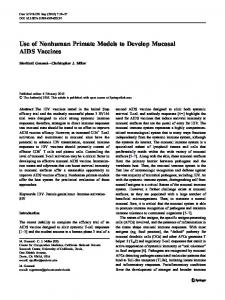 Use of Nonhuman Primate Models to Develop Mucosal ... - Springer Link