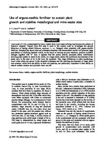 Use of organo-zeolitic fertilizer to sustain plant growth and ... - CiteSeerX