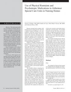Use of Physical Restraints and Psychotropic Medications in ... - NCBI