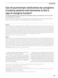 Use of psychotropic medications by caregivers of ... - Semantic Scholar