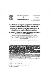 Use of remote sensing and geographical information systems to ...